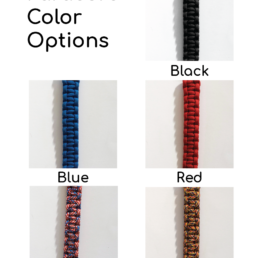 Veital Designs Paracord Color Options